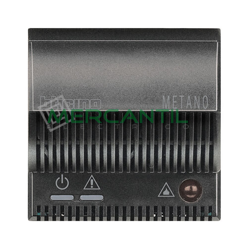 Detector de Gas Metano con Señalizador Optico/Acustico 2 Modulos Axolute BTICINO Antracita