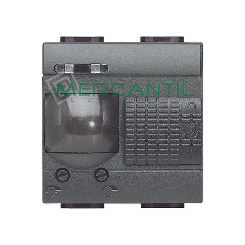 Interruptores de Rayos Infrarrojos Pasivos 2 Modulos Living Light BTICINO Antracita