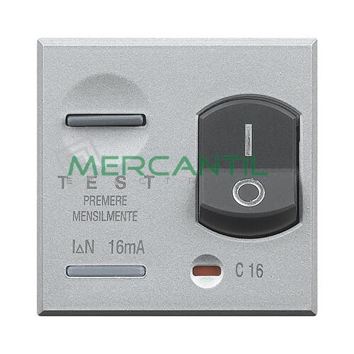 Interruptor Diferencial 10A 3kA 2 Modulos Axolute BTICINO 10A Tech