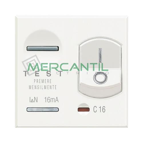Interruptor Diferencial 10A 3kA 2 Modulos Axolute BTICINO 10A Blanco