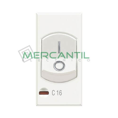 Interruptor Magnetotermico 16A 3kA 1 Modulo Axolute BTICINO 16A Blanco