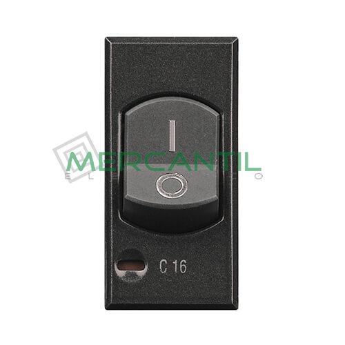 Interruptor Magnetotermico 16A 3kA 1 Modulo Axolute BTICINO 16A Antracita