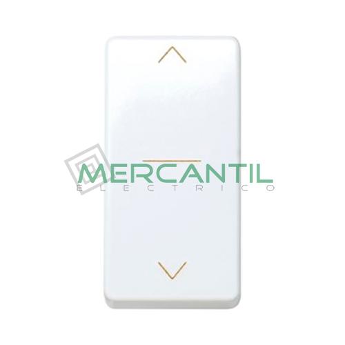 Interruptor Estrecho para Gestion de Persianas con 3 Posiciones 10A 250V SIMON 27 Play Blanco Nieve