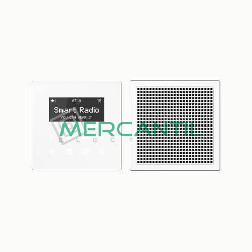 Kit Smart Radio Mono con Display LS990 JUNG Blanco Alpino