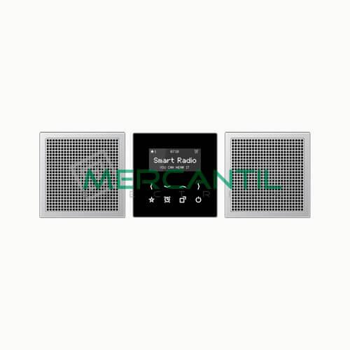 Kit Smart Radio Estereo con Display LS990 JUNG Aluminio