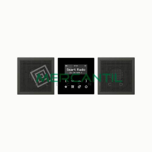 Kit Smart Radio Estereo con Display LS990 JUNG Antracita