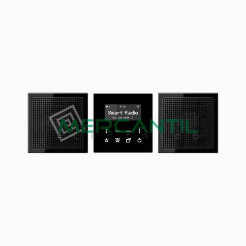 Kit Smart Radio Estereo con Display LS990 JUNG Negro