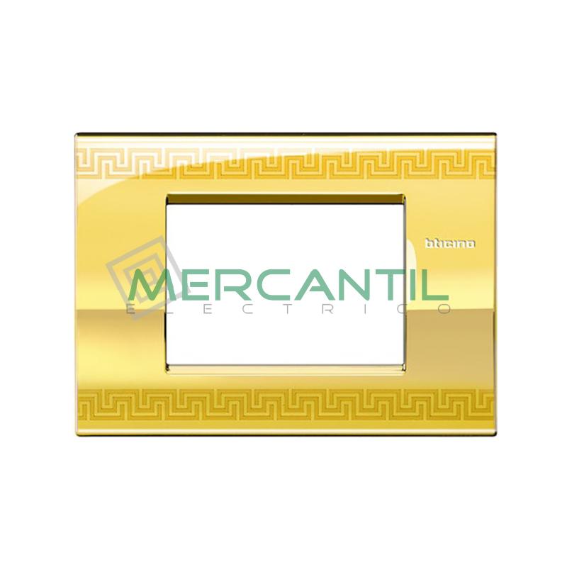 Marco Cuadrado Rectangular Living Light Air BTICINO - Color Greek 3 Modulos Cuadrada Rectangular Greek