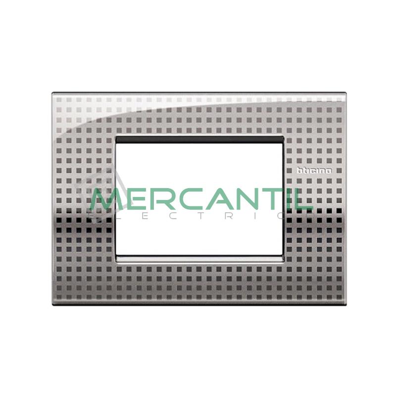 Marco Cuadrado Rectangular Living Light Air BTICINO - Color Net 3 Modulos Cuadrada Rectangular Net