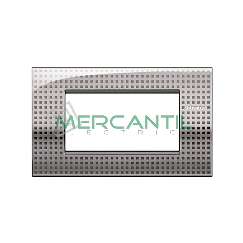 Marco Cuadrado Rectangular Living Light Air BTICINO - Color Net 4 Modulos Cuadrada Rectangular Net