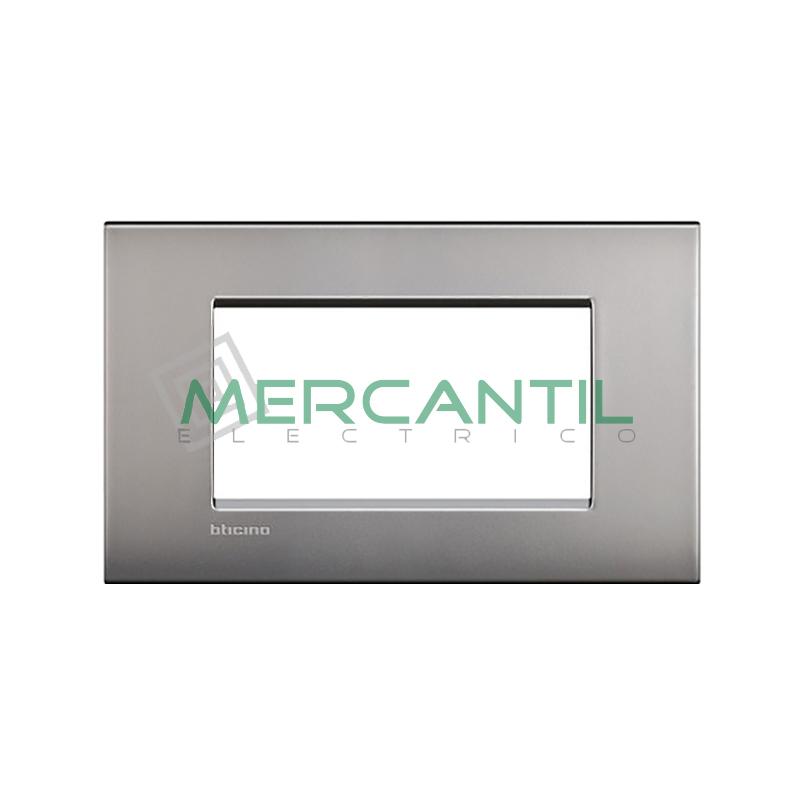 Marco Cuadrado Rectangular Living Light Air BTICINO - Color Niquel Satinado 4 Modulos Cuadrada Rectangular Niquel-satinado