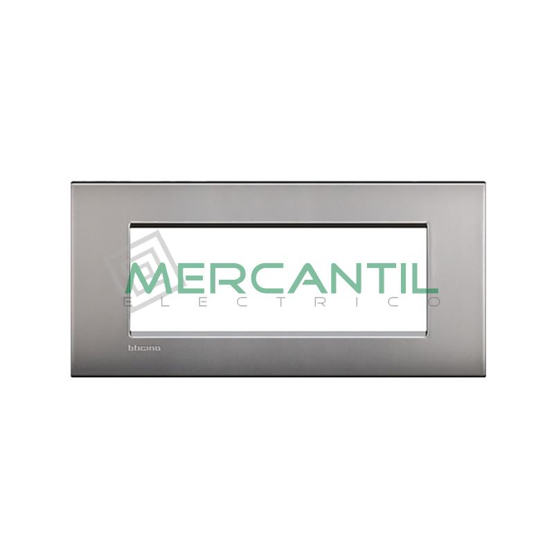 Marco Cuadrado Rectangular Living Light Air BTICINO - Color Niquel Satinado 7 Modulos Cuadrada Rectangular Niquel-satinado