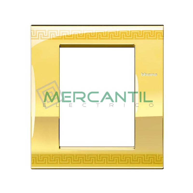 Marco Cuadrado Rectangular Living Light Air BTICINO - Color Greek 3+3 Modulos Cuadrada Rectangular Greek