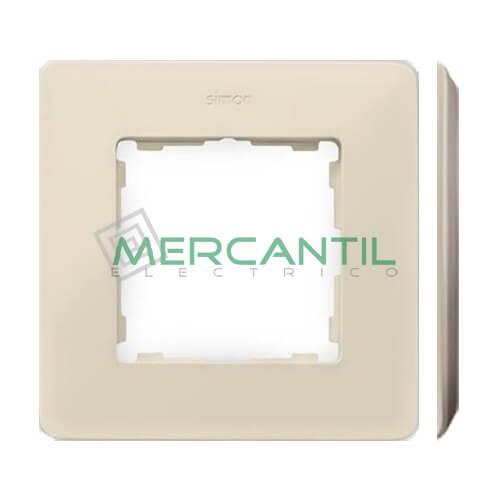 Marco Embellecedor SIMON 82 Detail Blanco - Color Marfil 1 Elemento Marfil Gris