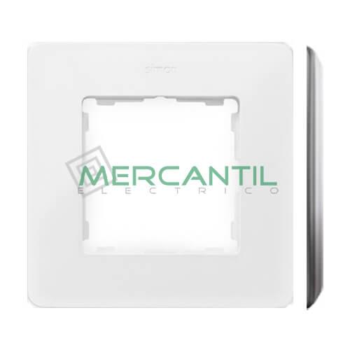 Marco Embellecedor SIMON 82 Detail Premium - Color Blanco/Aluminio 1 Elemento Blanco Aluminio