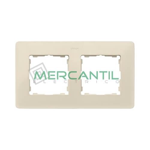 Marco Embellecedor SIMON 82 Detail Blanco - Color Marfil 2 Elementos Marfil Gris