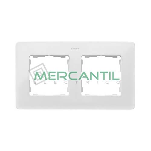 Marco Embellecedor SIMON 82 Detail Premium - Color Blanco/Aluminio 2 Elementos Blanco Aluminio