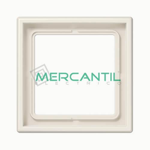 Marco Embellecedor LS990 JUNG - Color Blanco Marfil 1 Elemento Horizontal/Vertical Blanco Marfil