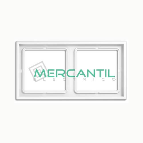 Marco Embellecedor LS990 JUNG - Color Blanco Alpino 2 Elementos Horizontal/Vertical Blanco Alpino