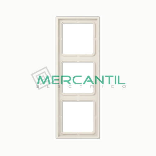 Marco Embellecedor LS990 JUNG - Color Blanco Marfil 3 Elementos Horizontal/Vertical Blanco Marfil
