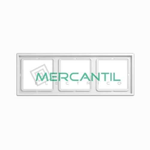 Marco Embellecedor LS990 JUNG - Color Blanco Alpino 3 Elementos Horizontal/Vertical Blanco Alpino