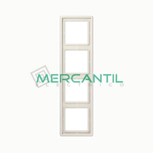 Marco Embellecedor LS990 JUNG - Color Blanco Marfil 4 Elementos Horizontal/Vertical Blanco Marfil
