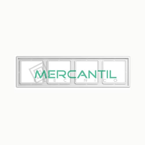 Marco Embellecedor LS990 JUNG - Color Blanco Alpino 4 Elementos Horizontal/Vertical Blanco Alpino