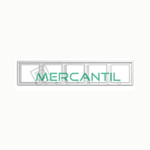 Marco Embellecedor LS990 JUNG - Color Blanco Alpino 5 Elementos Horizontal/Vertical Blanco Alpino