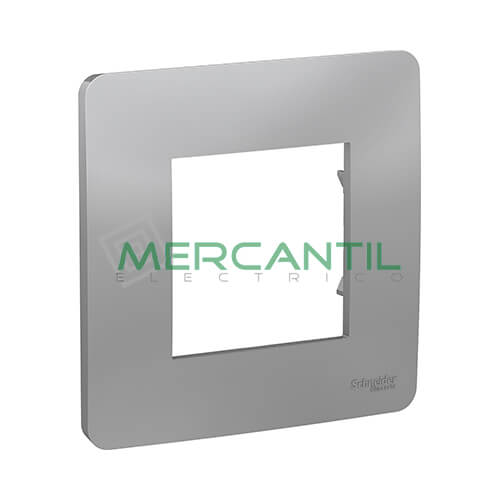 Marco Embellecedor Universal Studio New Unica SCHNEIDER ELECTRIC - Color Aluminio 1 Elemento Horizontal