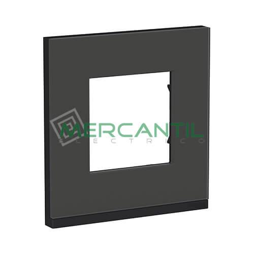 Marco Embellecedor Universal Pure New Unica SCHNEIDER ELECTRIC - Color Cristal Negro 1 Elemento Horizontal
