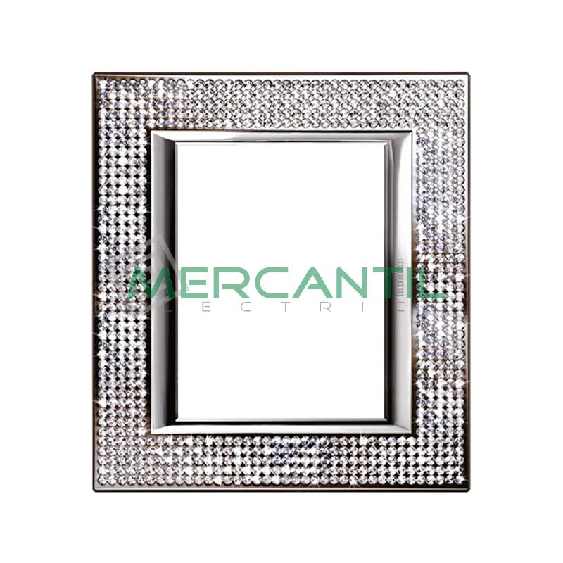 Marco Embellecedor Rectangular Axolute BTICINO - Color Swarovski Crystal 3+3 Modulos Horizontal Crystal Swarovski BTICINO Axolute
