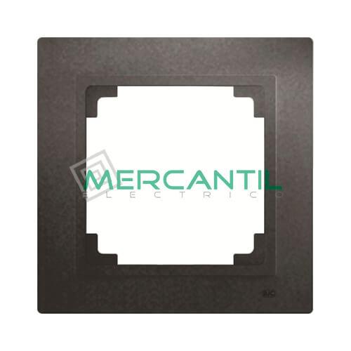 Marco Embellecedor 55x55 BJC VIVA - 1 Elemento 1 Elemento Negro Piano