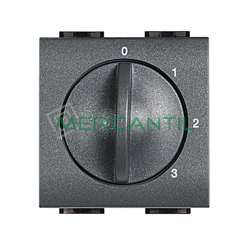 Selector Conmutador Rotativo 1 Via Living Light BTICINO Antracita