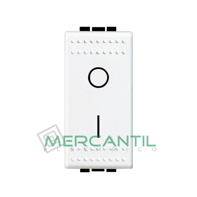 Interruptor Bipolar 1 Modulo Living Light BTICINO Blanco