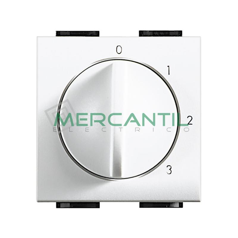 Selector Conmutador Rotativo 1 Via Living Light BTICINO Blanco