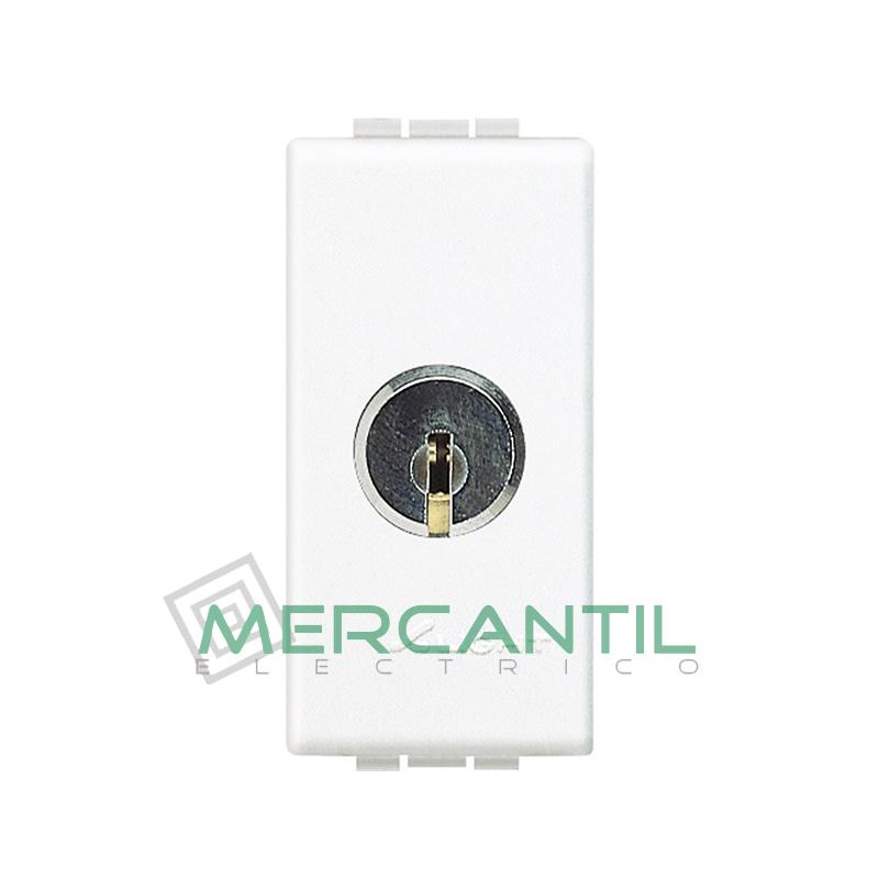 Conmutador con Llave 1 Modulo Living Light BTICINO Blanco