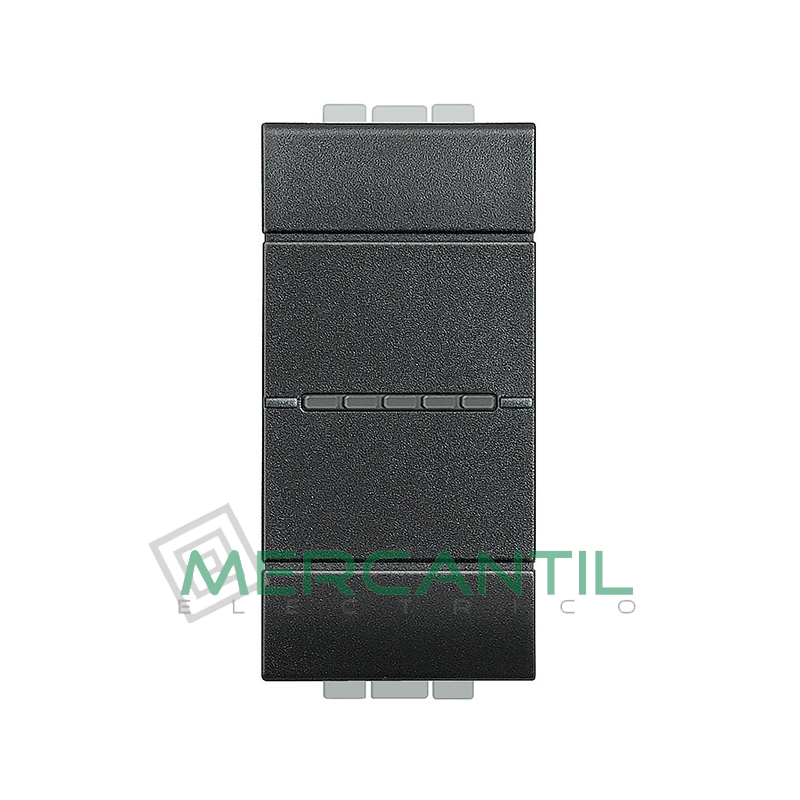 Cruzamiento Iluminable Axial 1 Modulo Living Light BTICINO - Embornamiento Automatico Antracita