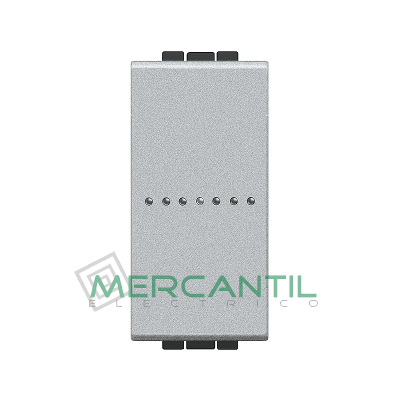 Conmutador Iluminable Axial 1 Modulo Living Light BTICINO - Embornamiento Automatico Tech