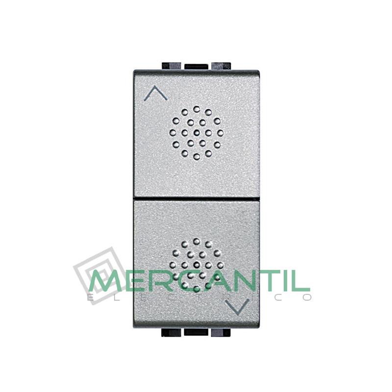 Pulsador Doble con Bloqueo Mecanico 1 Modulo Living Light BTICINO Tech