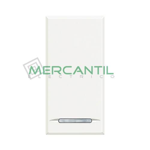 Cruzamiento Iluminable Basculante 1 Modulo Axolute BTICINO - Embornamiento a Tornillo Blanco