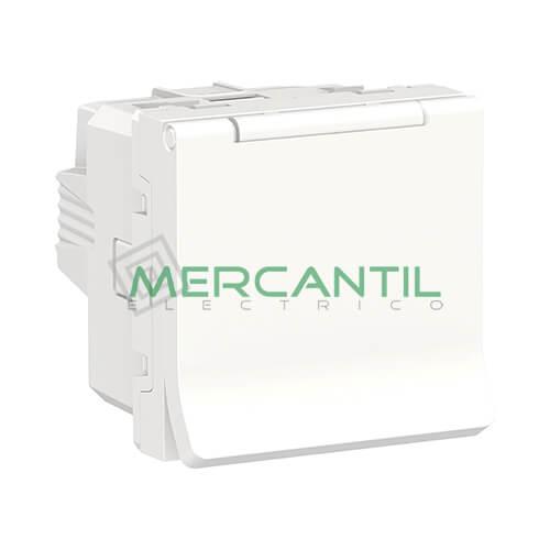 Base de Enchufe Schuko con Tapa 2P+T 16A 2 Modulos New Unica SCHNEIDER ELECTRIC - Embornamiento a Tornillo Blanco