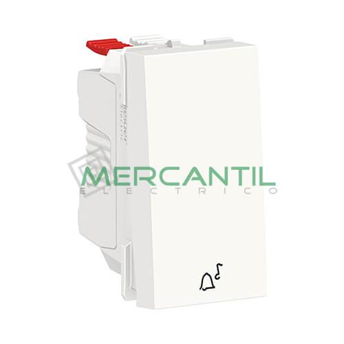 Pulsador con Simbolo de Timbre 1 Modulo New Unica SCHNEIDER ELECTRIC Blanco