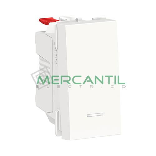 Pulsador con Luminoso 1 Modulo New Unica SCHNEIDER ELECTRIC Blanco