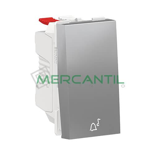 Pulsador con Simbolo de Timbre 1 Modulo New Unica SCHNEIDER ELECTRIC Aluminio