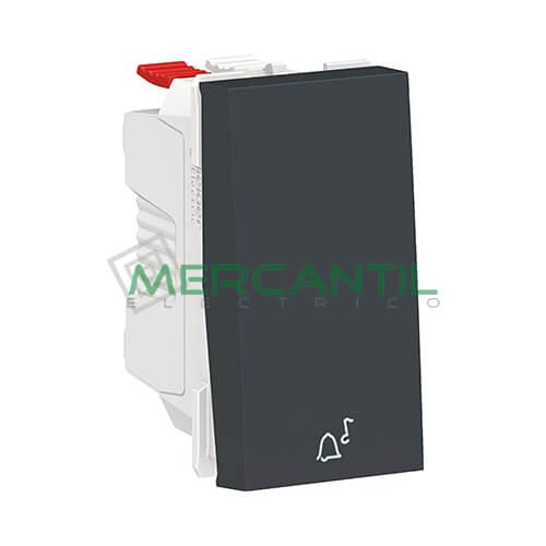 Pulsador con Simbolo de Timbre 1 Modulo New Unica SCHNEIDER ELECTRIC Antracita