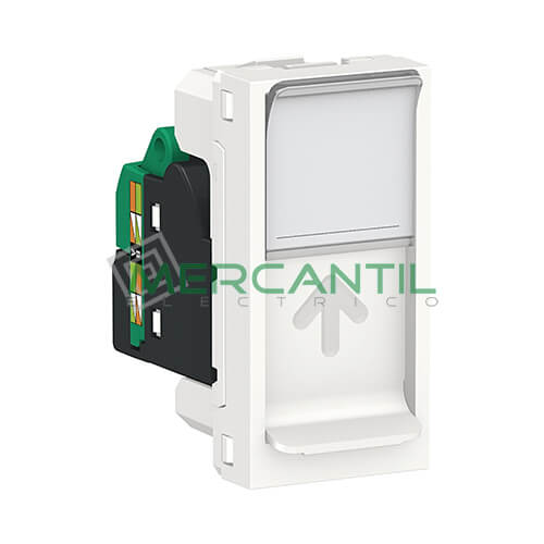 Base Informatica RJ45 UTP S-One Categoria 5E 1 Modulo New Unica SCHNEIDER ELECTRIC Blanco