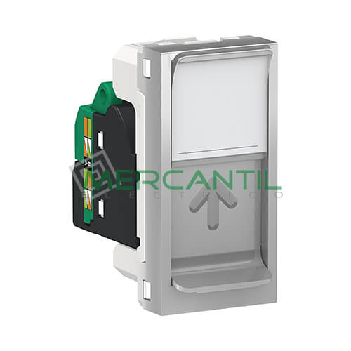 Base Informatica RJ45 UTP S-One Categoria 5E 1 Modulo New Unica SCHNEIDER ELECTRIC Aluminio