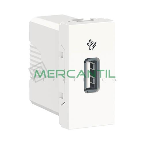 Base USB para Recarga con Tension 5V 1 Modulo New Unica SCHNEIDER ELECTRIC Blanco