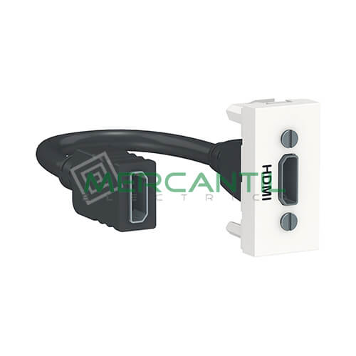 Base HDMI 1 Modulo New Unica SCHNEIDER ELECTRIC Blanco
