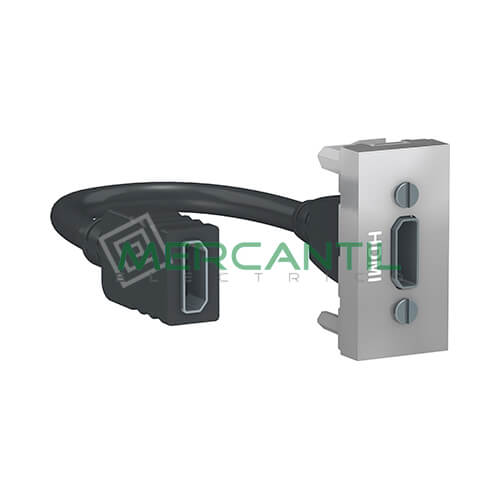 Base HDMI 1 Modulo New Unica SCHNEIDER ELECTRIC Aluminio